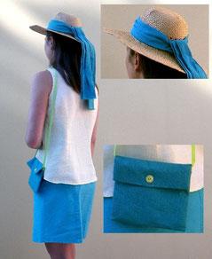 ruban de chapeau et pochette
