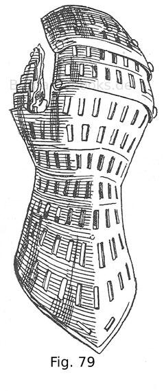 Fig. 79. Gelochte Hentze von einem Harnisch des Kaisers Maximilian I. um 1480.