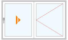 Parallelschiebetüre Schema A