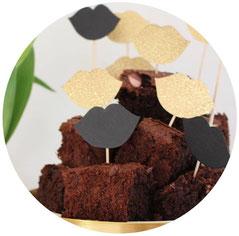 Bild: Marshmallow Brownies Rezept, Caketopper DIY, gefunden auf Partystories.de