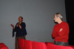 Amélie Schafer, présidente de l'association et JC Klotz