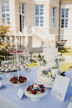 Kuchenbuffet im Gästehaus am Lehnitzsee