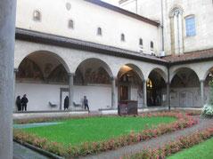 サンマルコ修道院の中庭