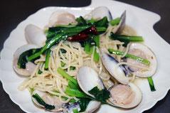 蛤と小松菜のパスタ 1200円
