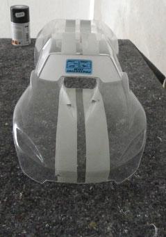 Ausgeschnittene Proline Slipstream Karosserie für Traxxas E-Revo 1:8 fertig zum Lackieren.