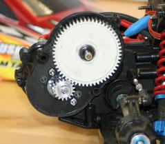 Vordefinierte Motorpositionen im Getriebe des Tamiya DT-02