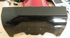 Tamiya Glitzer Lack PS-53 Lame Flake auf dem Spoiler vom Desert Gator