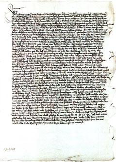 Urkunde vom 8.Juli 1462 (Original liegt im Staatsarchiv Bremen; StAB 1-Bm 1462 Juli 8)