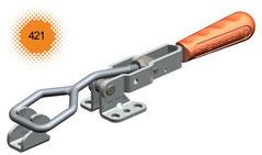 Verschlussspanner / Bügelspanner O-Befestigung mit waagrechtem Fuß