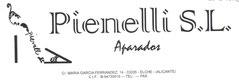 """Imagen con fondo blanco y un dibujo de un tacón negro con texto negro que pone """"PIanelli S.L."""" y debajo pone """"Aparados2 con la dirección más abajo."""