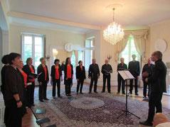 Concert au château St Roch en  juin 2014