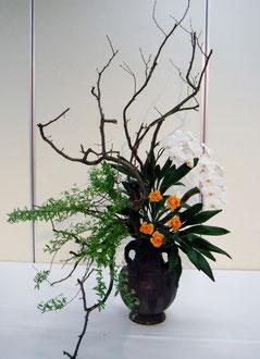 2014川崎芸術祭 花梨・胡蝶蘭・ラナンキュラス・こでまり・ドラセナ