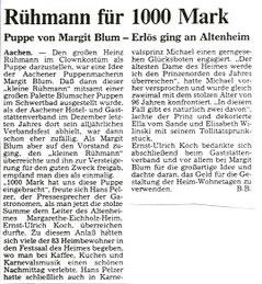 Heinz Rühmann Puppe für einen guten Zweck