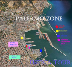 Satellite view of the Palermo Port area