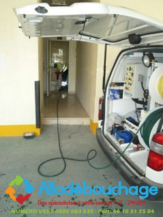 Debouchage canalisation 59 vehicule hydrocureur