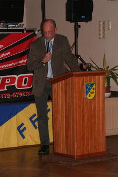 1. Vorsitzender Johann Behrends während der Eröffnungsrede.