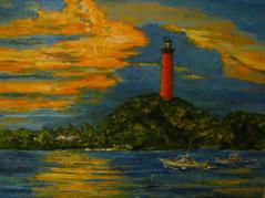 Fishing Late, Oil, 11x14, $ 300