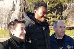Karine Andres, Steve Mandandanda, Etienne Rippert (Cavaillon 2012)