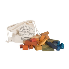 Wooden Story Rainbow Blocks Holzbausteine XL - zuckerfrei | Kids Concept Store