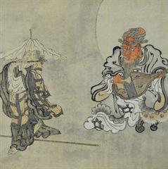 Ashi Kyōdō (1808-1995) | Jizō and Enma Playing Music Together