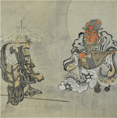Ashi Kyōdō (1808-1895) | Jizō and Enma Playing Music Together