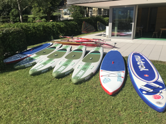Stand-Up-Paddling bei Wassersport Engel am Wolfgangsee