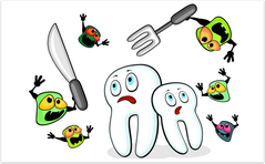 Zucker wird im Mund in Milchsäure umgewandelt, die Karies verursachen kann. (© mjak - Fotolia.com)