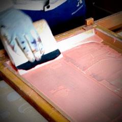 安心安全塗料使用し印刷した木製玩具