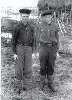 Robert Fischer (links) mit seinem Freund Otto in jungen Jahren