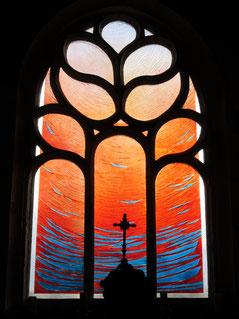 Vitraux de la chapelle Saint Jaoua à Plouvien
