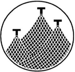 漁師の家紋。糸輪に三つ干し網。