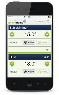 Komfortable Steuerung der Heizung per Smartphone-App