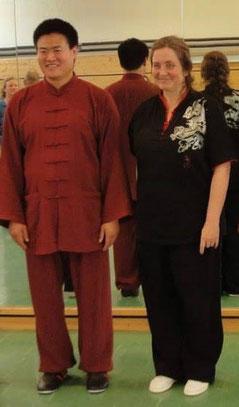 Alfie Schütz 2014 mit Meister Wang