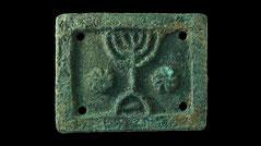bronze plaque 1st century relief menorah