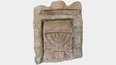 Phanagoria Menorah, Jewish tombstone Phanagoria menorah seven-branched candelabrum, shofar  and Lulav