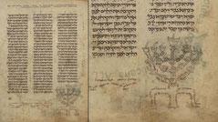 Elia ben Berechiah Pentateuch Menorah 1239