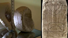 ancient five arming menorah stone, roman soldier, drainage Jerusalem, City of David, golden lampstand, sword
