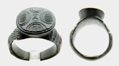 Medieval holy land Jewish Bronze ring menorah