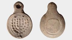 Ancient Roman Ceramic Lamp Menorah, 1st century AD CE