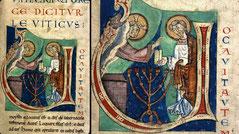 Bible de Saint-Thierr, medieval menorah, 12th century