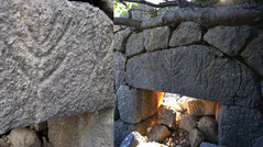 ancient synagogue in Çatiören Catioren Menorah Turkey Cilicia