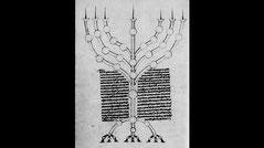 Petri Comestoris historia scholastica menorah, 13th century