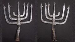 Medieval menorah Spear trident Antique Weapon