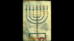 Mishneh Torah by Maimonides with menorah 13th century middle ages