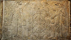 Apkallu with Sacred Tree of Life menorah Assyria Nimrud Mesopotamia