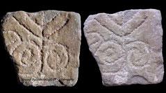 Menorah stone from Sobrarbe Aragon Spain