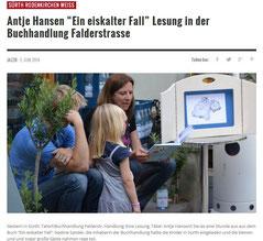 """Kinderbuch Lesung """"Ein eiskalter Fall"""" in der Buchhandlung Falderstrasse, Köln"""