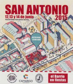 Cartel y programa de las Fiestas de San Antonio en Camargo 2015