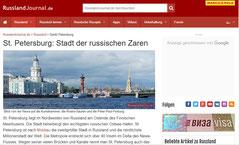 Webseite www.russlandjournal.de