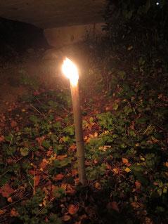 Brennende Fackel vom Böjuer Kerzenziehen